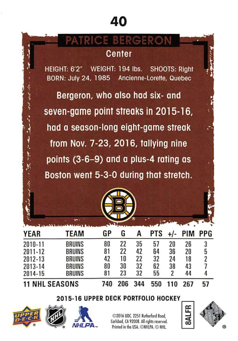 2015-16-Upper-Deck-Portfolio-Hockey-Cards-Pick-From-List-1-250-Includes-Rookies thumbnail 77