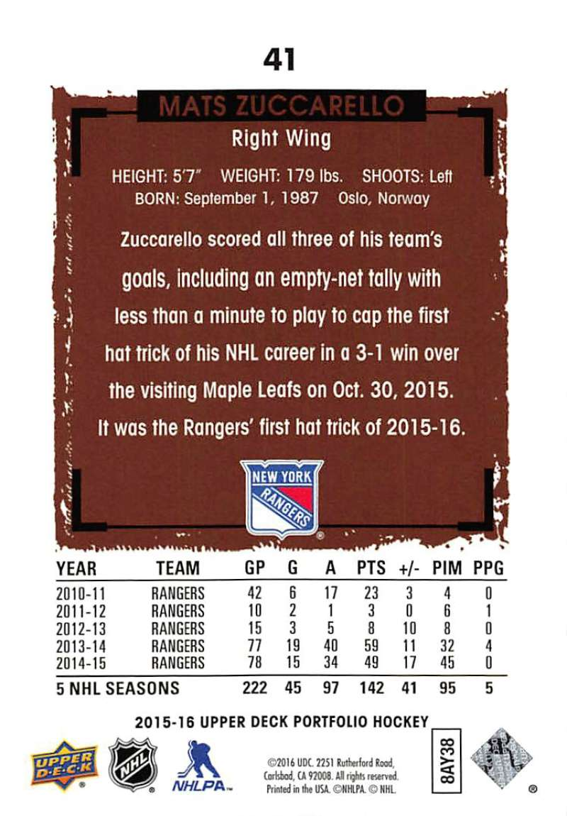 2015-16-Upper-Deck-Portfolio-Hockey-Cards-Pick-From-List-1-250-Includes-Rookies thumbnail 79