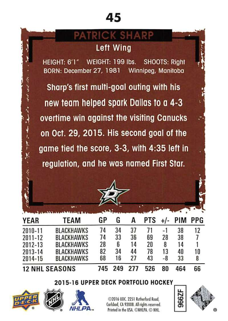 2015-16-Upper-Deck-Portfolio-Hockey-Cards-Pick-From-List-1-250-Includes-Rookies thumbnail 85