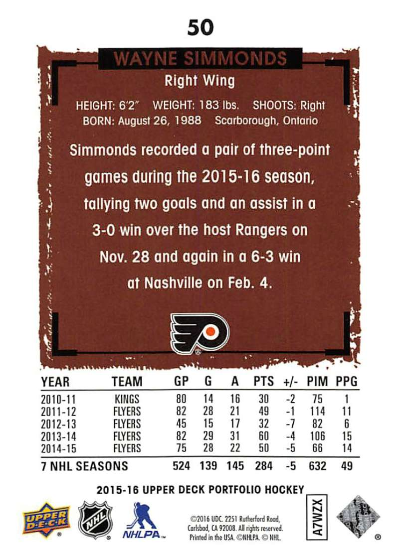 2015-16-Upper-Deck-Portfolio-Hockey-Cards-Pick-From-List-1-250-Includes-Rookies thumbnail 95