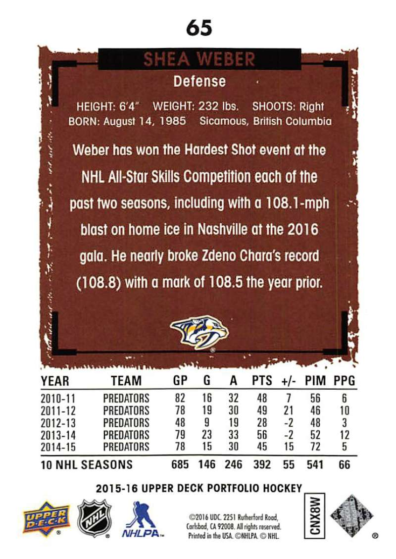 2015-16-Upper-Deck-Portfolio-Hockey-Cards-Pick-From-List-1-250-Includes-Rookies thumbnail 123