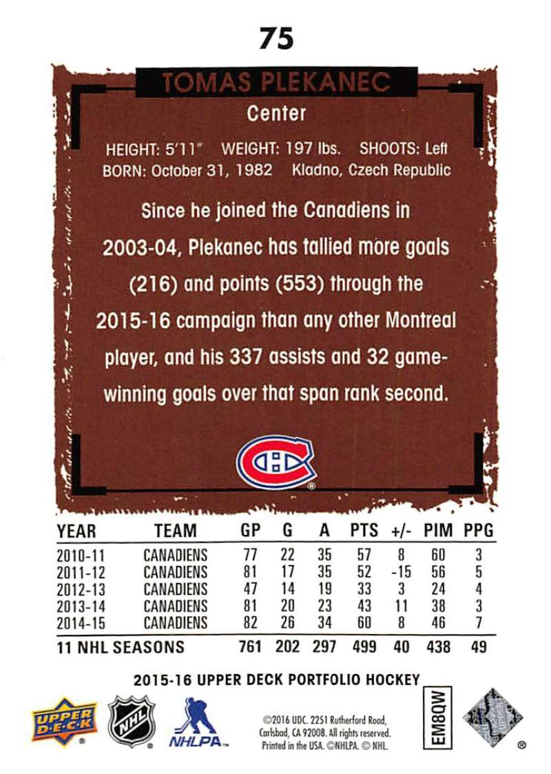 2015-16-Upper-Deck-Portfolio-Hockey-Cards-Pick-From-List-1-250-Includes-Rookies thumbnail 143