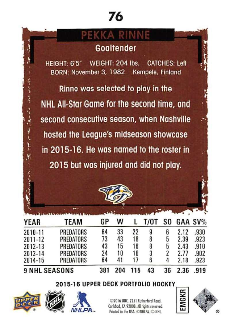 2015-16-Upper-Deck-Portfolio-Hockey-Cards-Pick-From-List-1-250-Includes-Rookies thumbnail 145