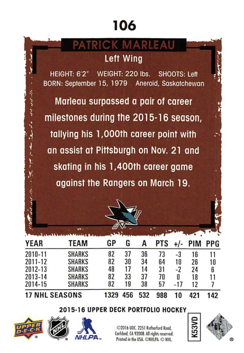 2015-16-Upper-Deck-Portfolio-Hockey-Cards-Pick-From-List-1-250-Includes-Rookies thumbnail 199