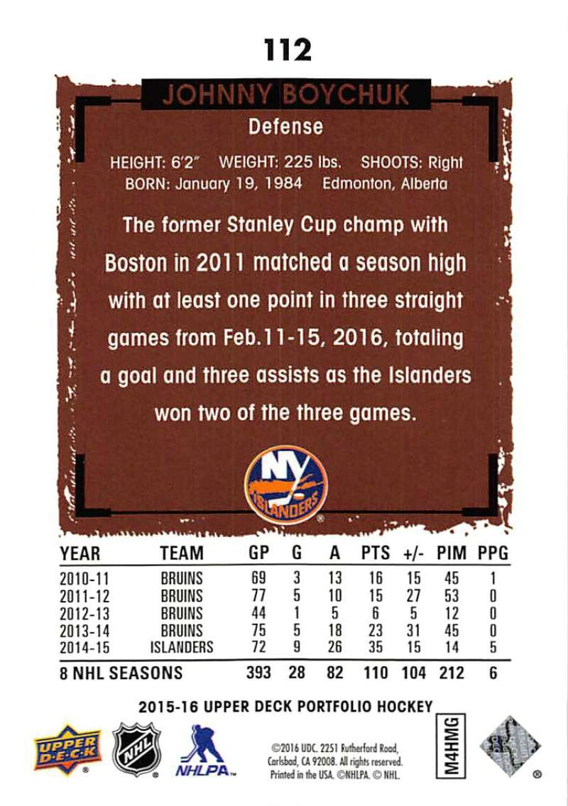 2015-16-Upper-Deck-Portfolio-Hockey-Cards-Pick-From-List-1-250-Includes-Rookies thumbnail 209