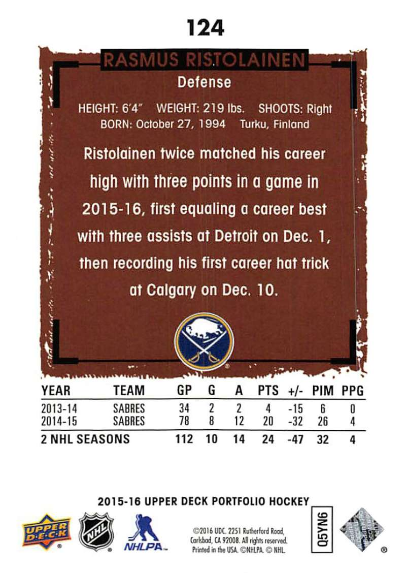 2015-16-Upper-Deck-Portfolio-Hockey-Cards-Pick-From-List-1-250-Includes-Rookies thumbnail 233