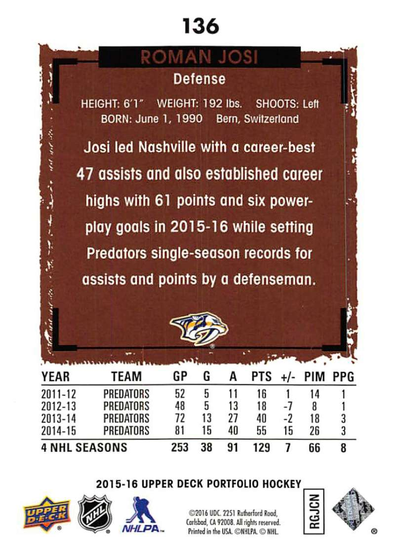 2015-16-Upper-Deck-Portfolio-Hockey-Cards-Pick-From-List-1-250-Includes-Rookies thumbnail 257