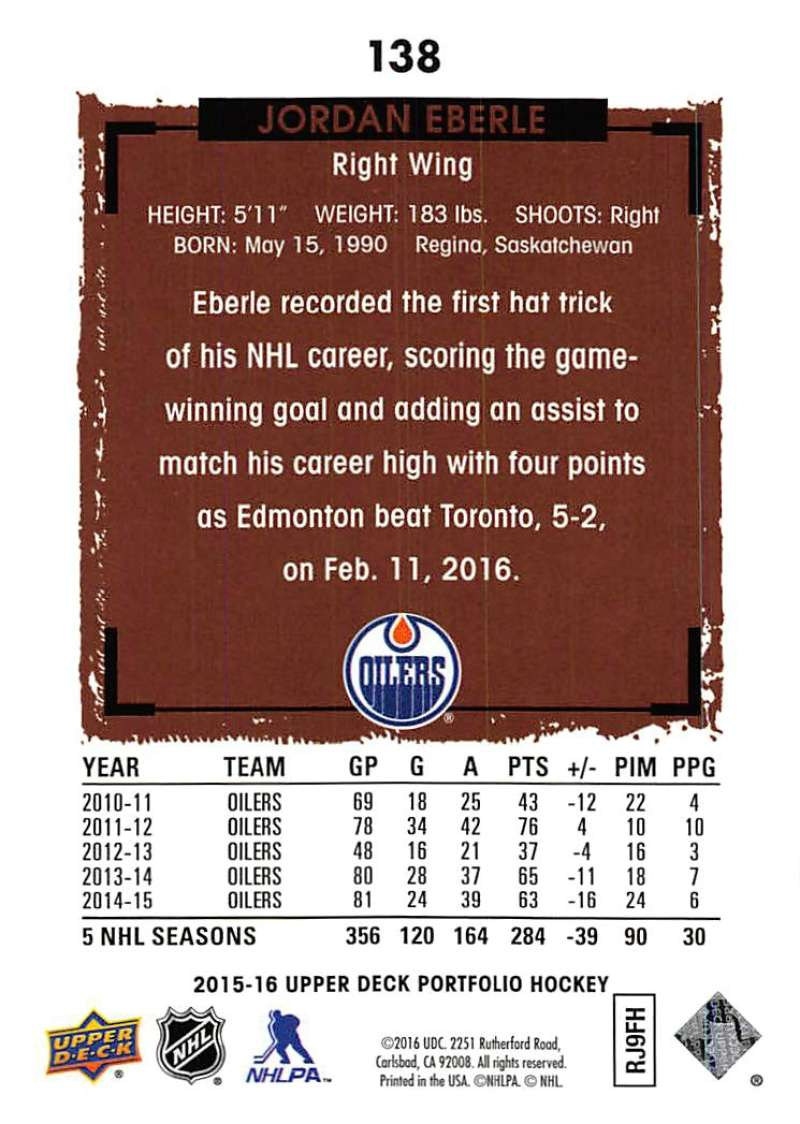 2015-16-Upper-Deck-Portfolio-Hockey-Cards-Pick-From-List-1-250-Includes-Rookies thumbnail 261