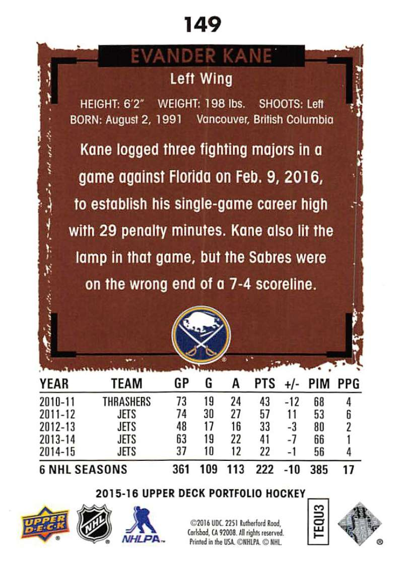 2015-16-Upper-Deck-Portfolio-Hockey-Cards-Pick-From-List-1-250-Includes-Rookies thumbnail 283
