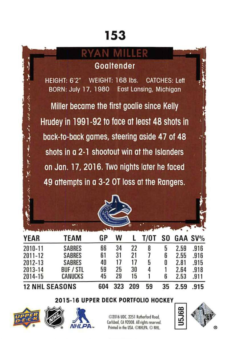 2015-16-Upper-Deck-Portfolio-Hockey-Cards-Pick-From-List-1-250-Includes-Rookies thumbnail 291