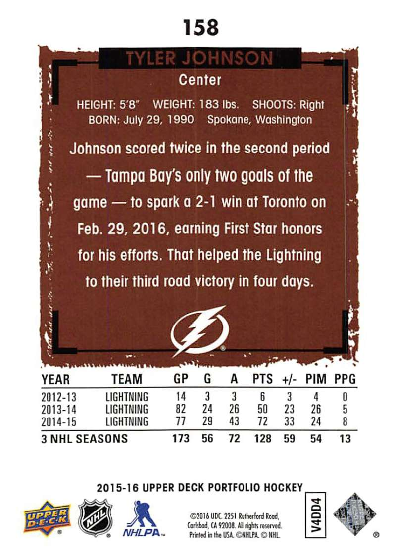 2015-16-Upper-Deck-Portfolio-Hockey-Cards-Pick-From-List-1-250-Includes-Rookies thumbnail 301