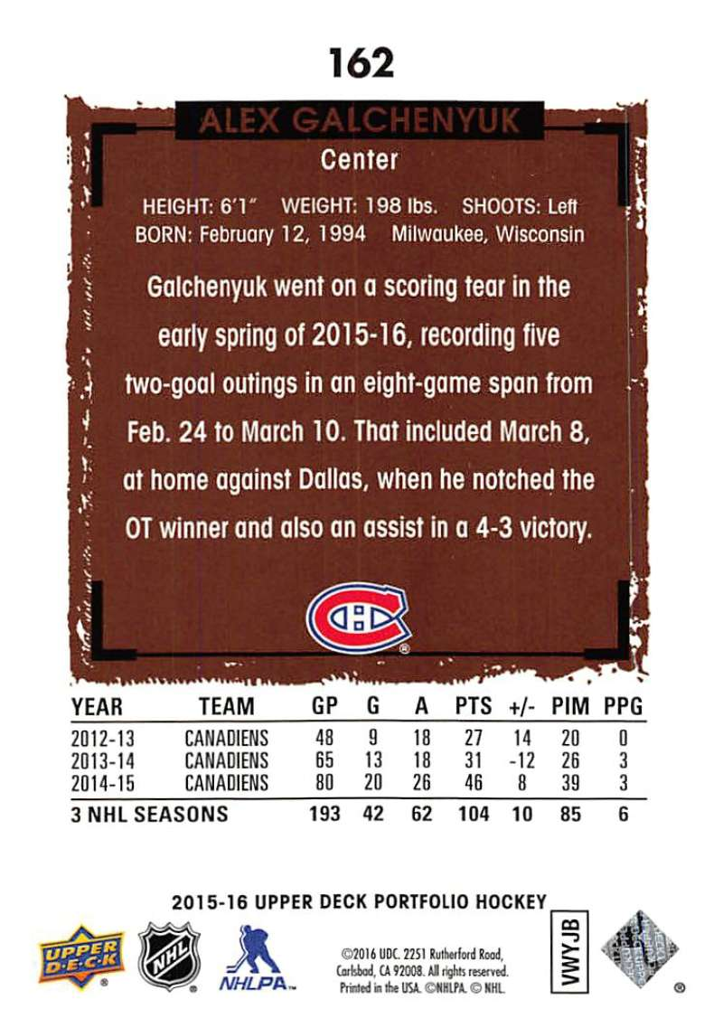 2015-16-Upper-Deck-Portfolio-Hockey-Cards-Pick-From-List-1-250-Includes-Rookies thumbnail 309