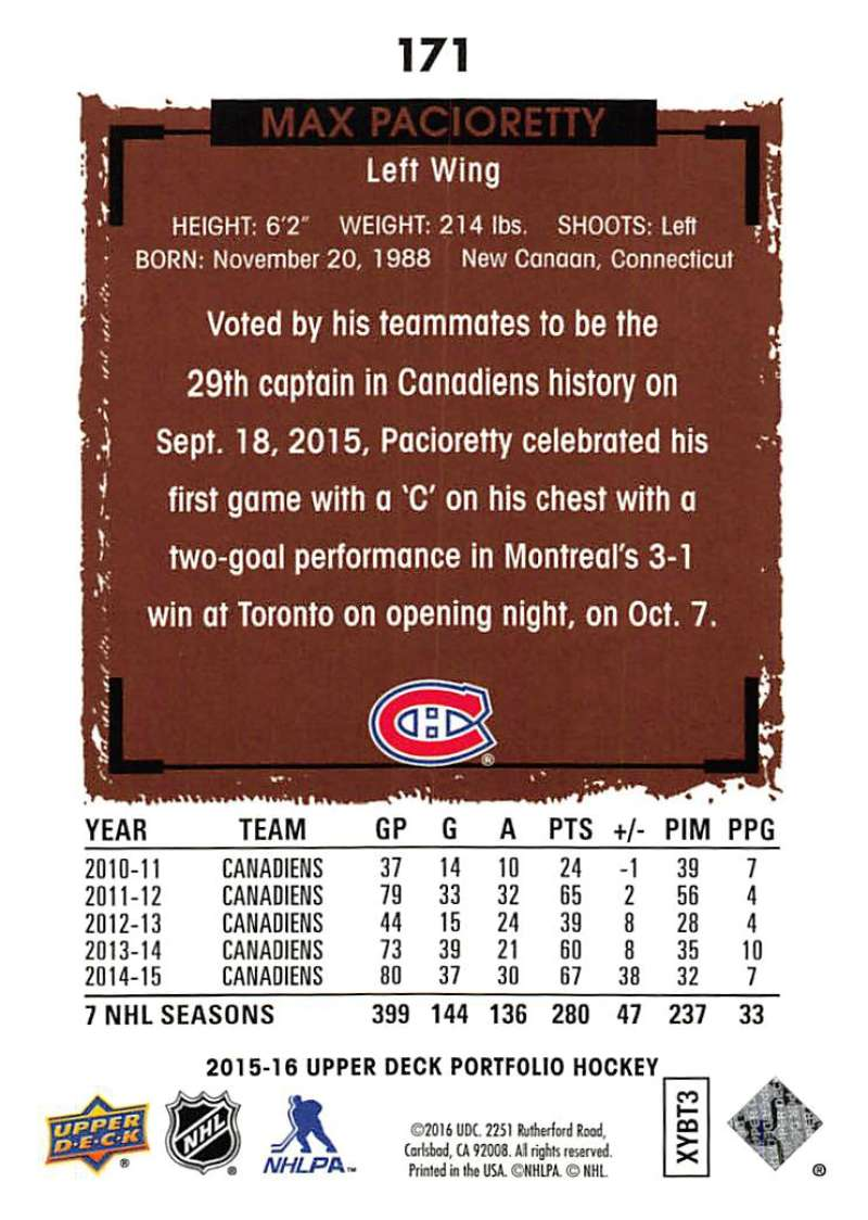 2015-16-Upper-Deck-Portfolio-Hockey-Cards-Pick-From-List-1-250-Includes-Rookies thumbnail 323