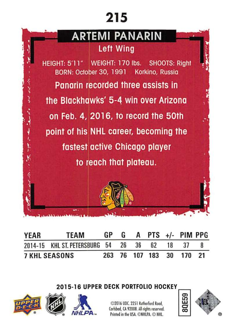 2015-16-Upper-Deck-Portfolio-Hockey-Cards-Pick-From-List-1-250-Includes-Rookies thumbnail 405