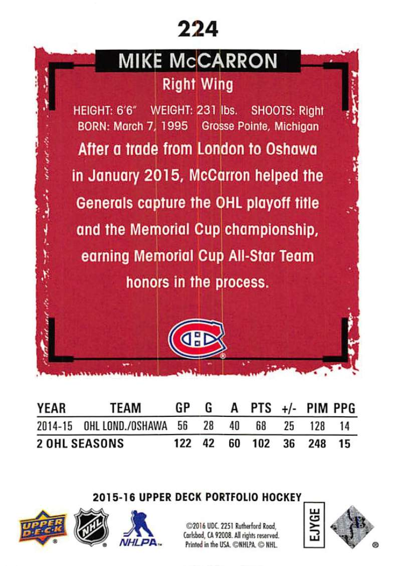 2015-16-Upper-Deck-Portfolio-Hockey-Cards-Pick-From-List-1-250-Includes-Rookies thumbnail 421