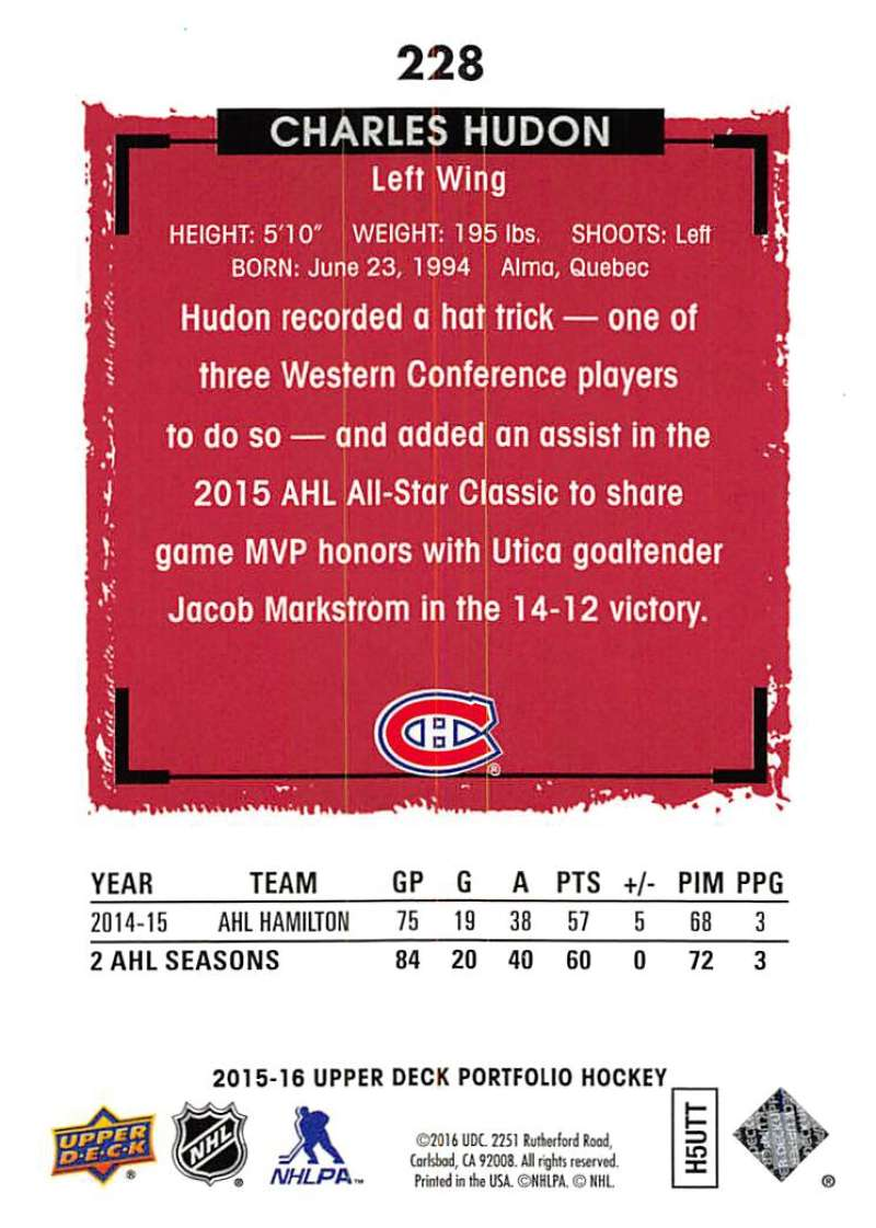 2015-16-Upper-Deck-Portfolio-Hockey-Cards-Pick-From-List-1-250-Includes-Rookies thumbnail 427