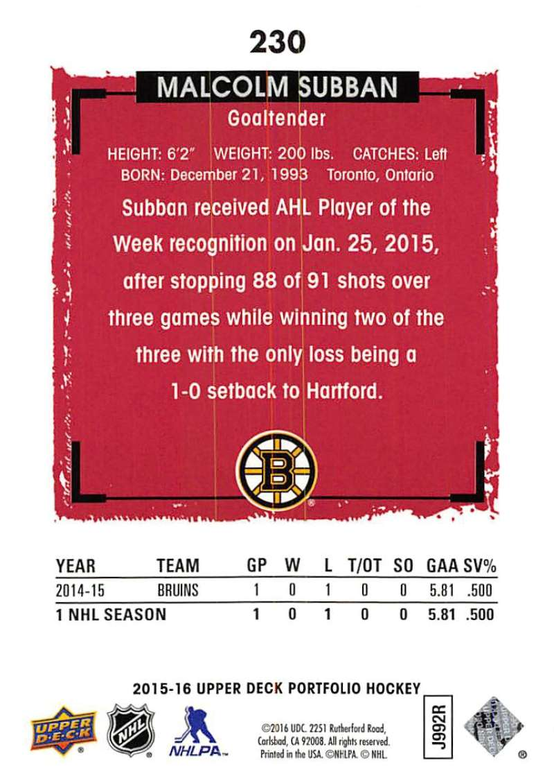 2015-16-Upper-Deck-Portfolio-Hockey-Cards-Pick-From-List-1-250-Includes-Rookies thumbnail 431