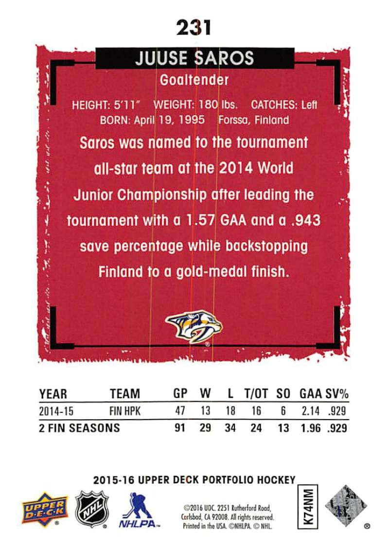 2015-16-Upper-Deck-Portfolio-Hockey-Cards-Pick-From-List-1-250-Includes-Rookies thumbnail 433