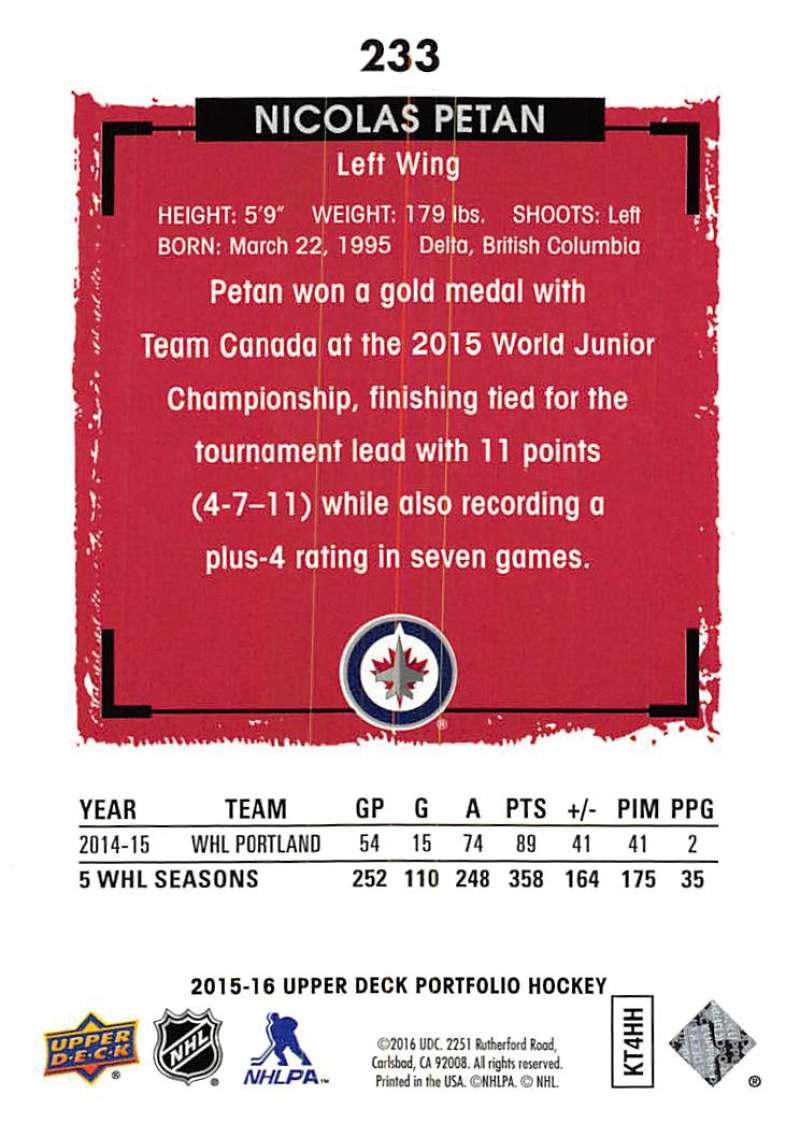 2015-16-Upper-Deck-Portfolio-Hockey-Cards-Pick-From-List-1-250-Includes-Rookies thumbnail 437