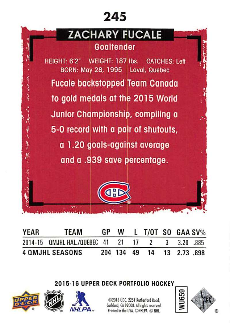 2015-16-Upper-Deck-Portfolio-Hockey-Cards-Pick-From-List-1-250-Includes-Rookies thumbnail 461