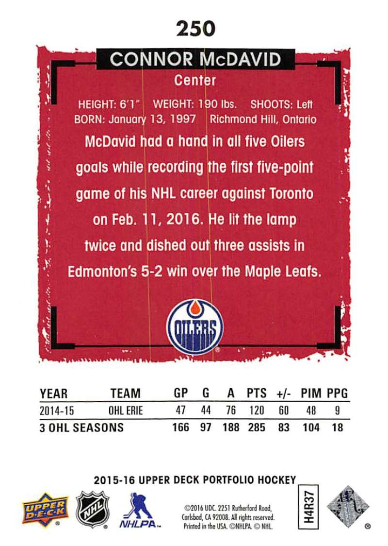 2015-16-Upper-Deck-Portfolio-Hockey-Cards-Pick-From-List-1-250-Includes-Rookies thumbnail 471