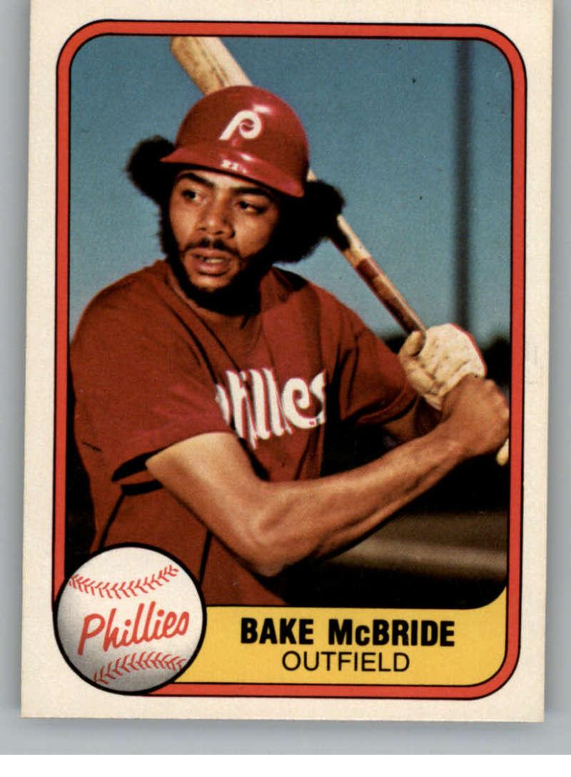 1981 Fleer #9 Bake McBride Philadelphia Phillies