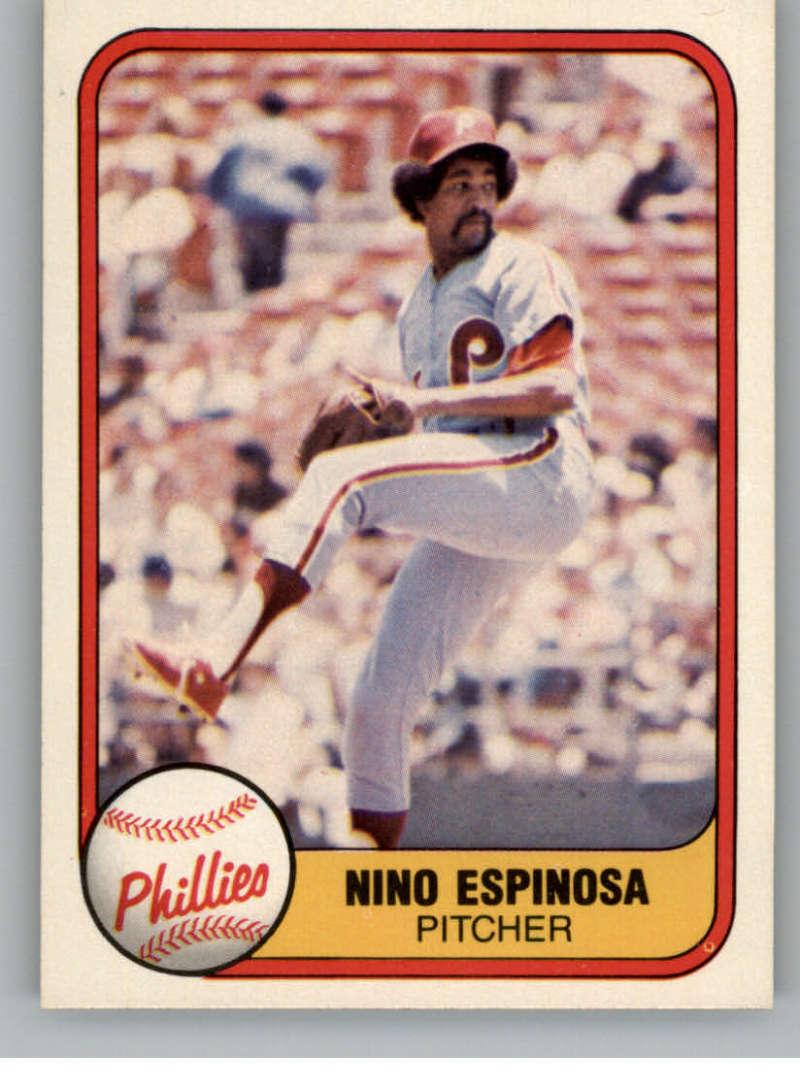 1981 Fleer #20 Nino Espinosa Philadelphia Phillies