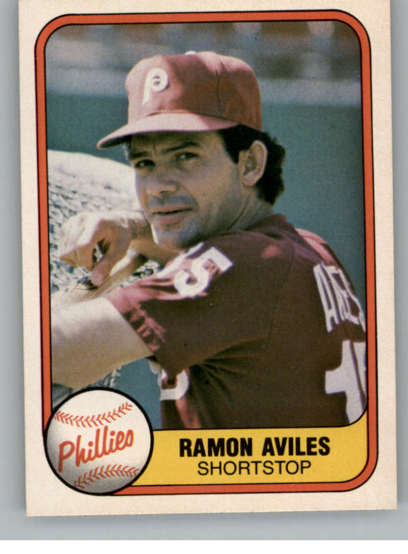 1981 Fleer #23 Ramon Aviles Philadelphia Phillies