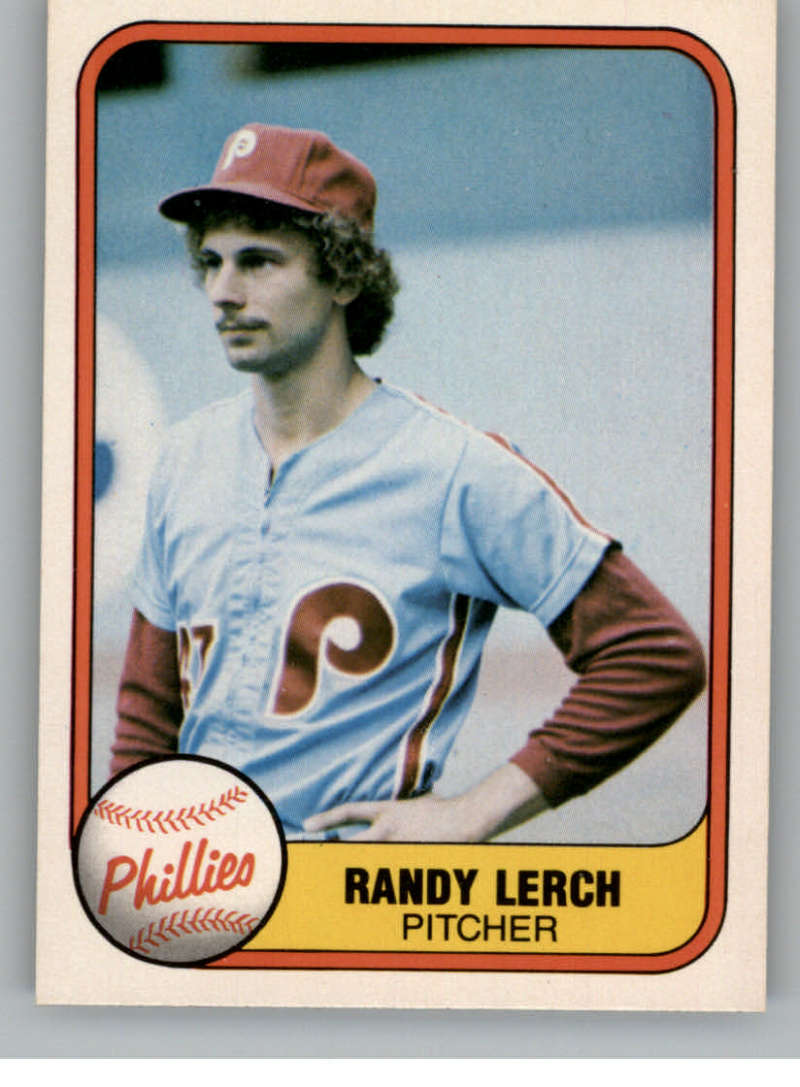 1981 Fleer #25 Randy Lerch Philadelphia Phillies