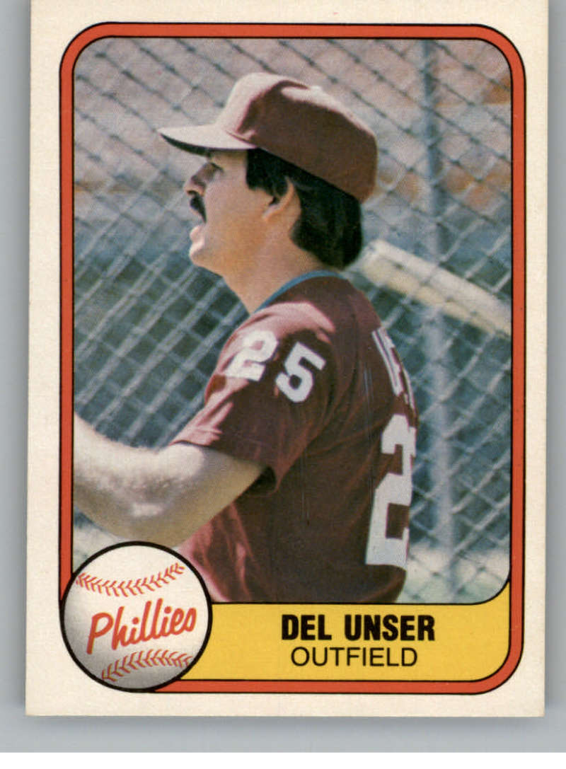 1981 Fleer #26 Del Unser Philadelphia Phillies