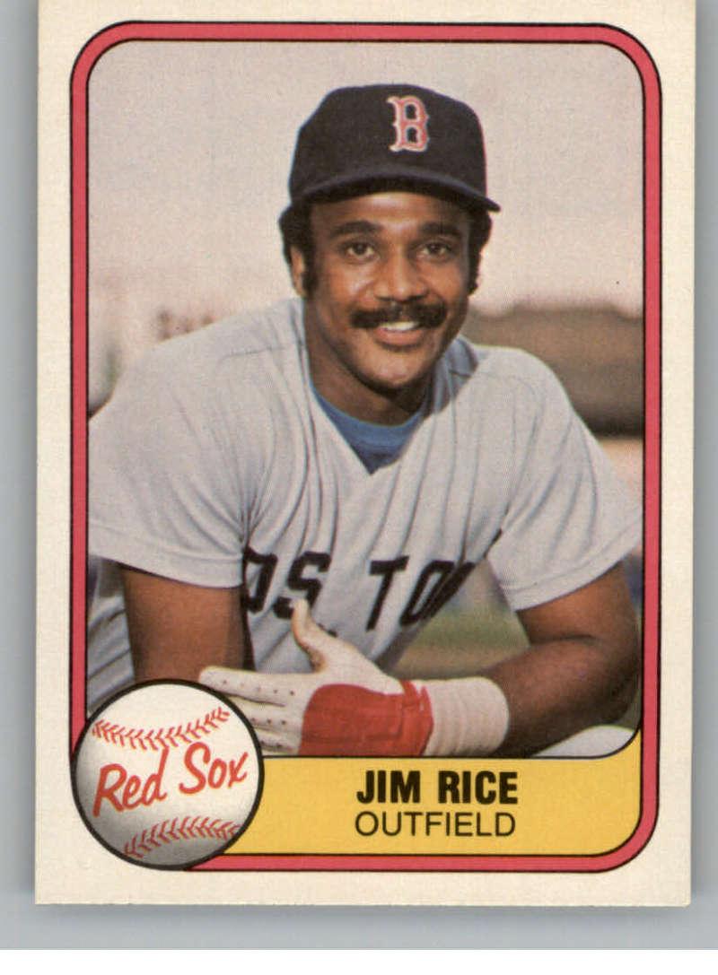1981 Fleer #222 Jim Rice Boston Red Sox