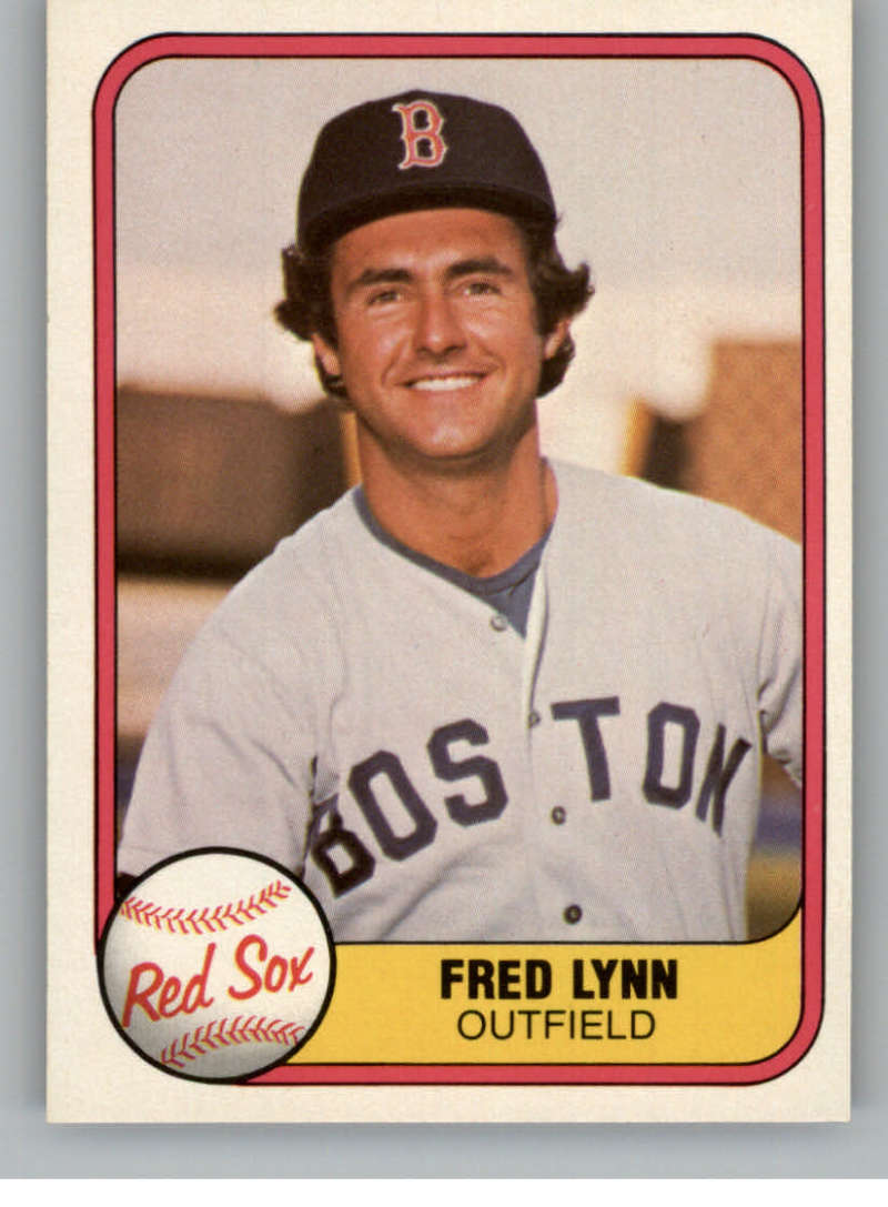 1981 Fleer #223 Fred Lynn Boston Red Sox