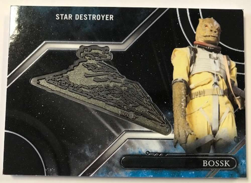 2017 Topps Star Wars Galactic Files Reborn Vehicles Medallions Silver #VM-BK Bossk / Star Destroyer SER/99