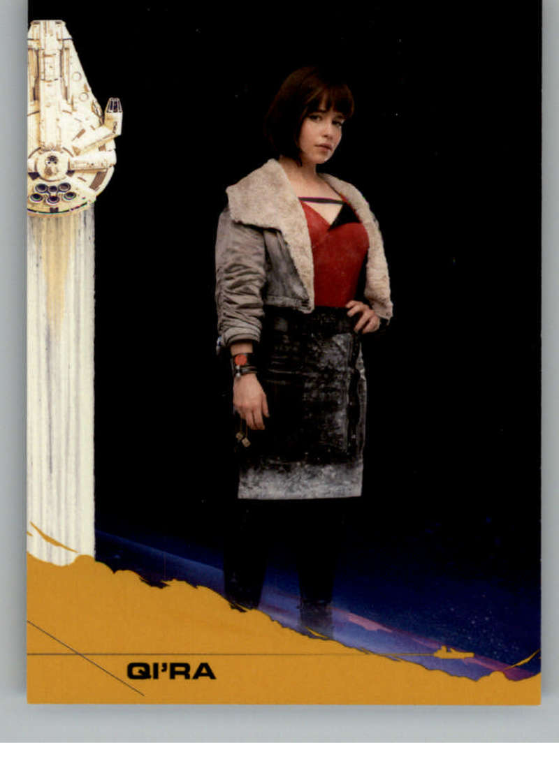 2018 Topps Solo A Star Wars Story Trading Card Gold #20 Qi'ra SER/10