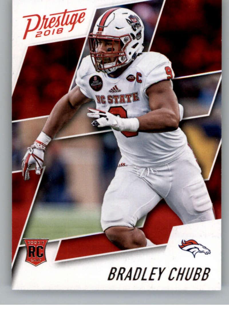2018 Panini Prestige NFL #204 Bradley Chubb Denver Broncos Rookie Card RC Panini Football Card