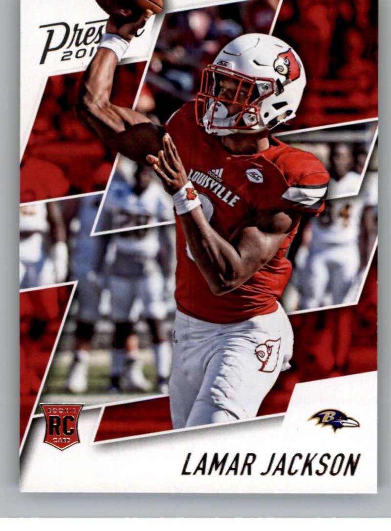 2018 Panini Prestige NFL #279 Lamar Jackson Baltimore Ravens Rookie Card RC Panini Football Card