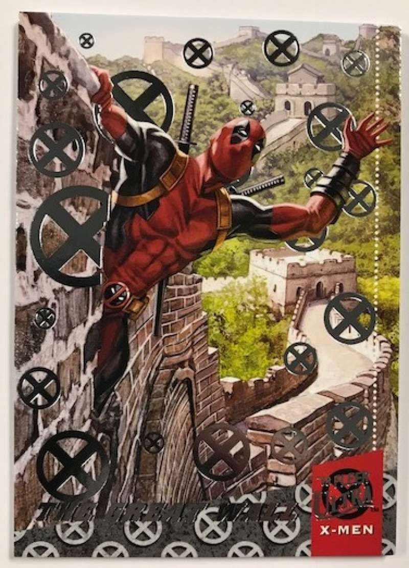 2018 Fleer Ultra X-Men Deadpool Around the World Silver Foil #DAW1 The Great Wall
