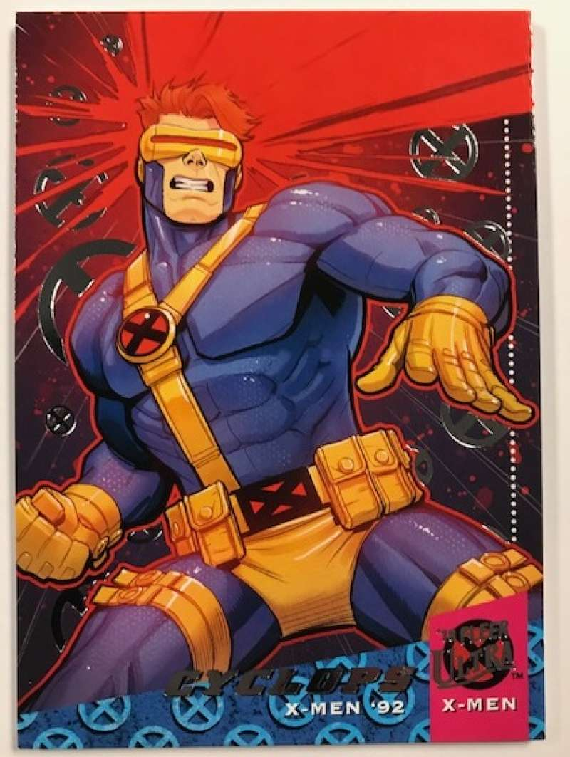 2018 Fleer Ultra X-Men X-Men 1992 Silver Foil #X2 Cyclops