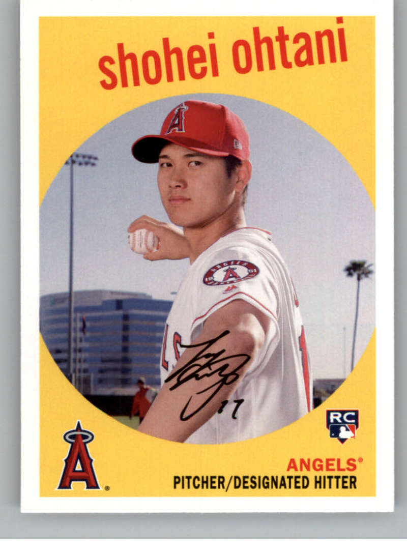 2018 Topps Archives Baseball #50 Shohei Ohtani RC Rookie Card Los Angeles Angels 1959 Topps Design