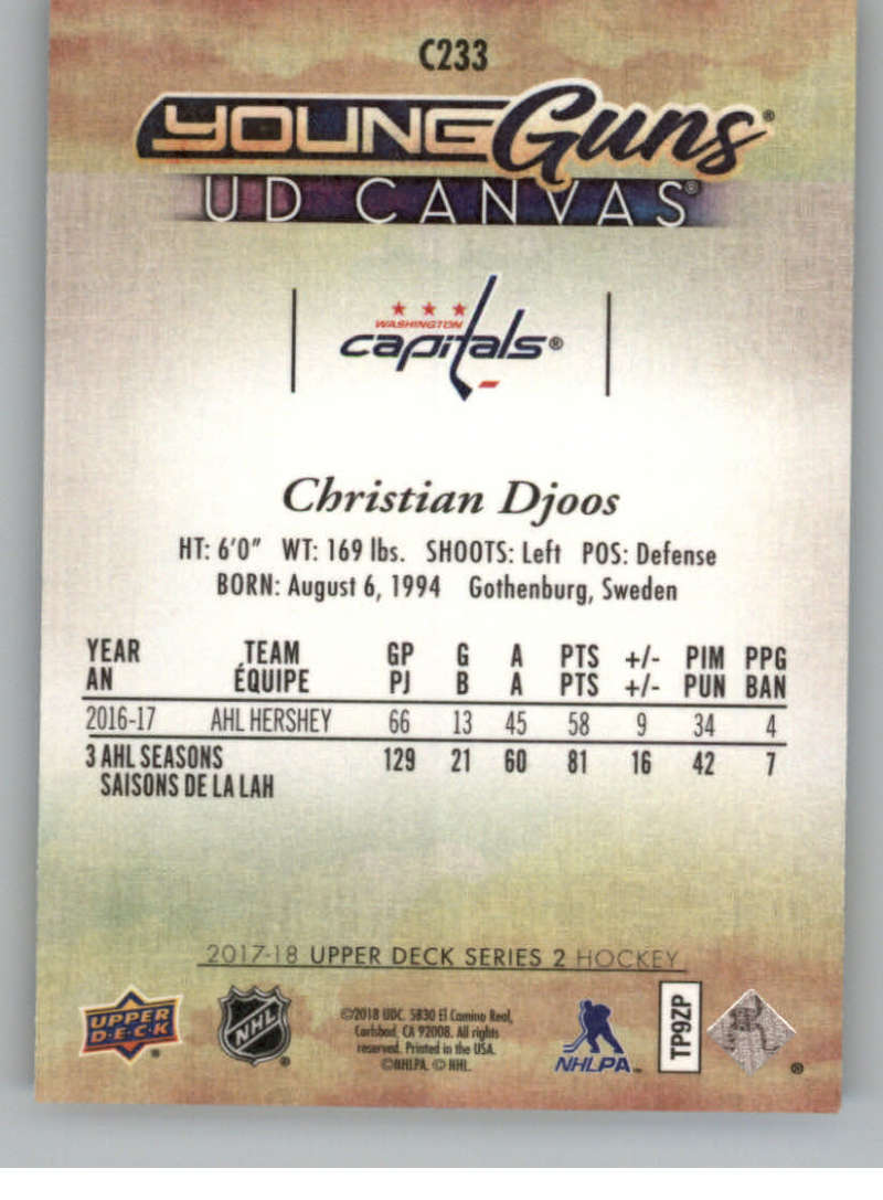 2017-18-Upper-Deck-Canvas-Series-Two-Cards-Pick-From-List-Includes-Young-Guns miniature 104