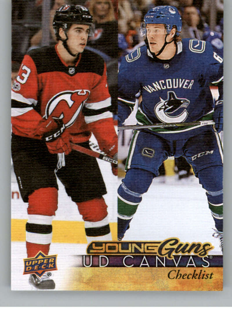 2017-18-Upper-Deck-Canvas-Series-Two-Cards-Pick-From-List-Includes-Young-Guns miniature 110