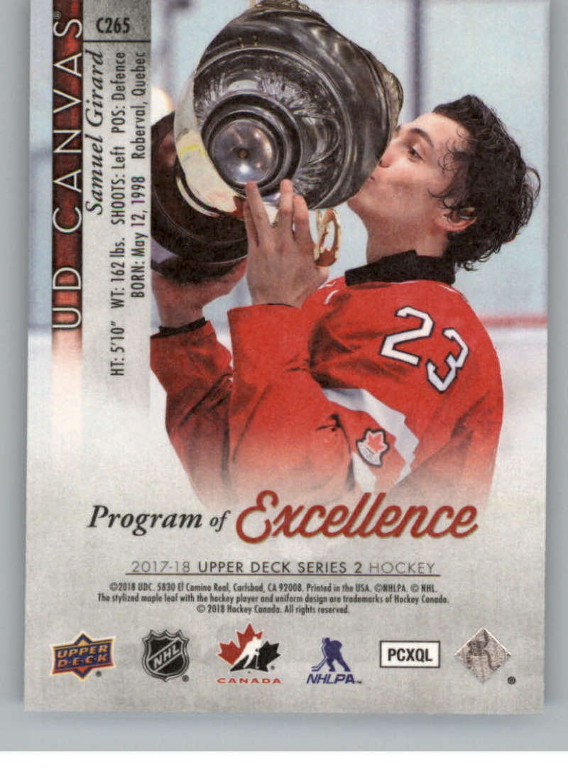 2017-18-Upper-Deck-Canvas-Series-Two-Cards-Pick-From-List-Includes-Young-Guns miniature 136