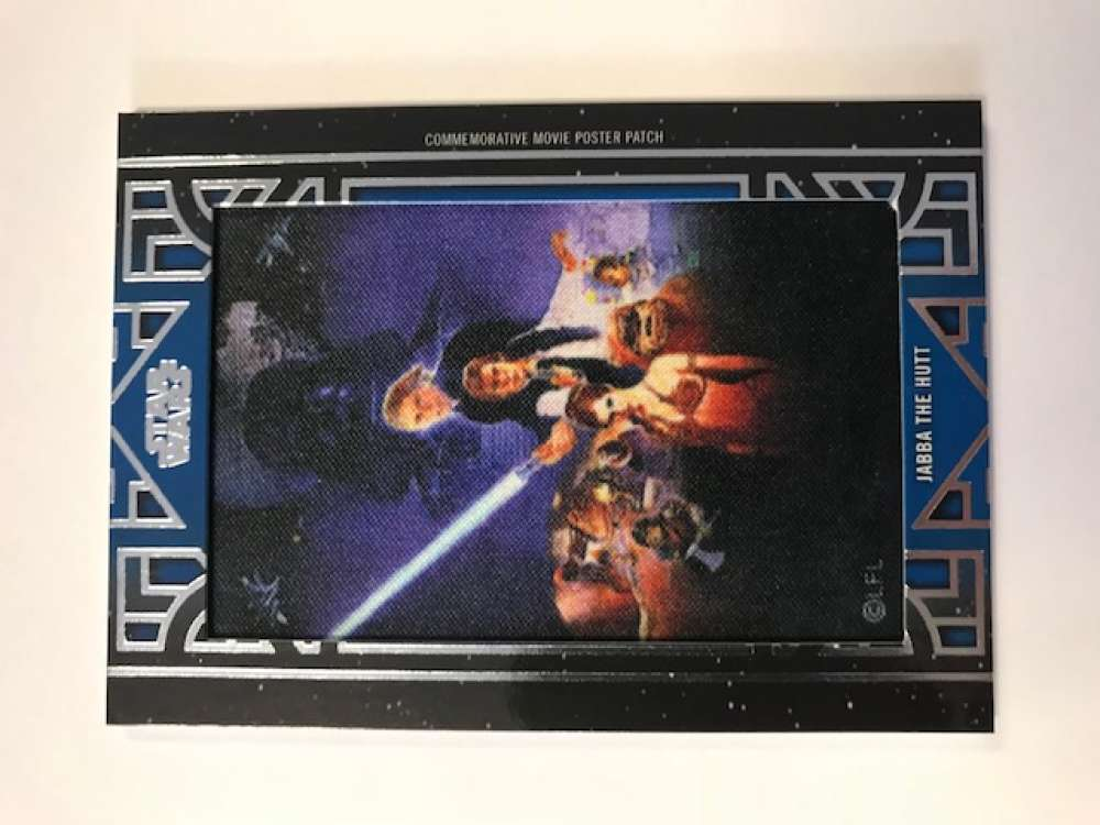 2018 Topps Star Wars Galactic Files Manufactured Movie Poster Patches Blue #NNO Jabba The Hutt SER/99 Return of the Jedi