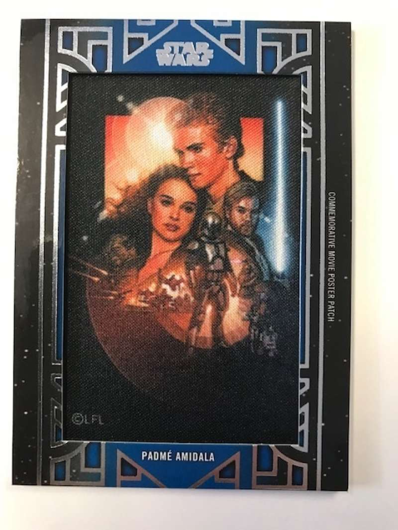 2018 Topps Star Wars Galactic Files Manufactured Movie Poster Patches Blue #NNO Padme Amidala SER/99 Attack of the Clone