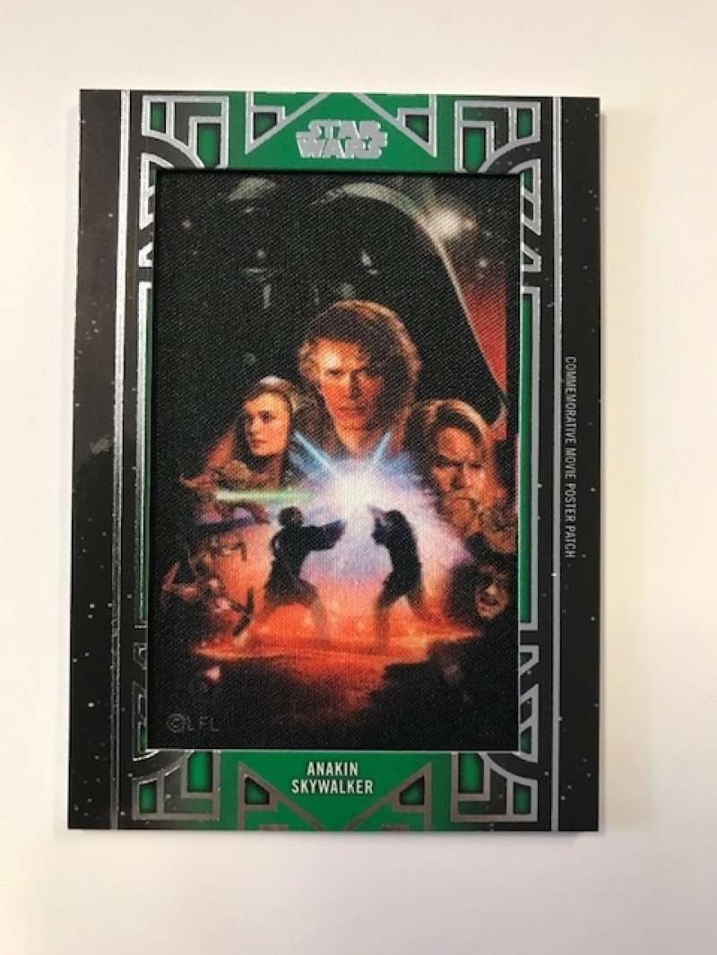 2018 Topps Star Wars Galactic Files Manufactured Movie Poster Patches Green #NNO Anakin Skywalker SER/50 Revenge of the