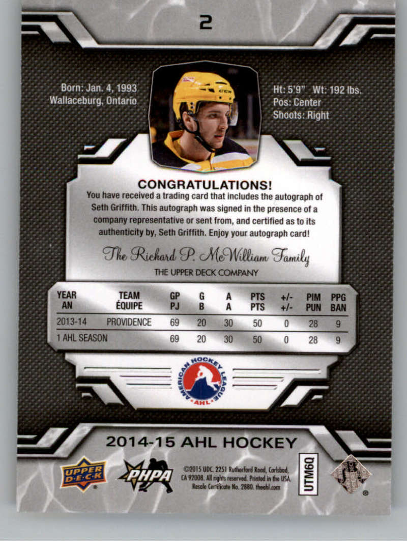 2014-15-Upper-Deck-AHL-Autographs-Stickers-Patch-Cards-Pick-From-List thumbnail 5
