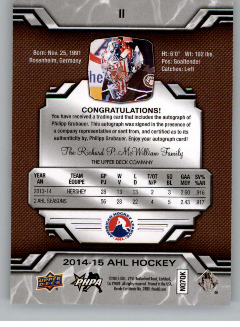 2014-15-Upper-Deck-AHL-Autographs-Stickers-Patch-Cards-Pick-From-List thumbnail 7