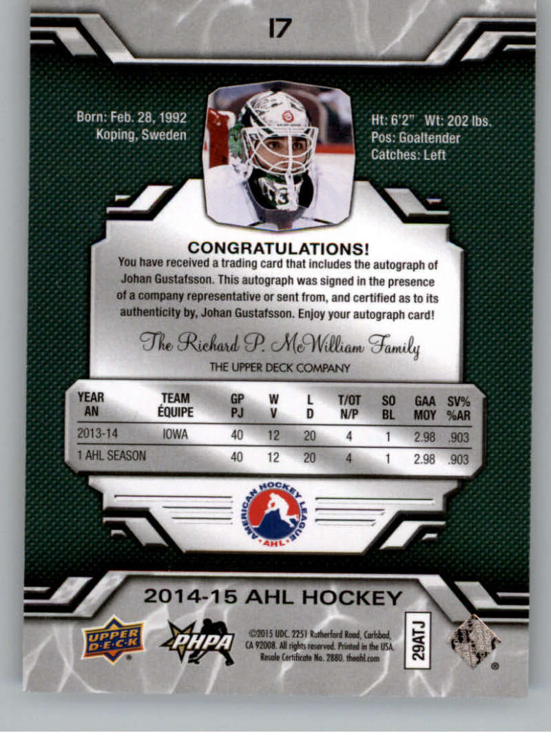 2014-15-Upper-Deck-AHL-Autographs-Stickers-Patch-Cards-Pick-From-List thumbnail 13