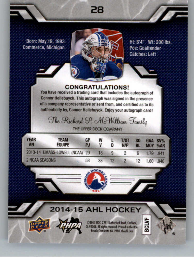 2014-15-Upper-Deck-AHL-Autographs-Stickers-Patch-Cards-Pick-From-List thumbnail 23