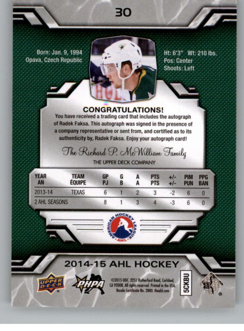 2014-15-Upper-Deck-AHL-Autographs-Stickers-Patch-Cards-Pick-From-List thumbnail 25